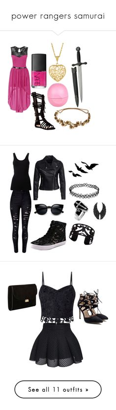 """power rangers samurai"" by little-vixen-686 ❤ liked on Polyvore featuring Top Guy, NARS Cosmetics, Jennifer Behr, River Island, Theory, New Look, Rebecca Minkoff, Lisa August, Plukka and Lipsy"