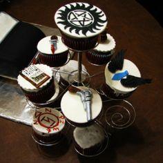 Supernatural cupcakes #SupernaturalWedding