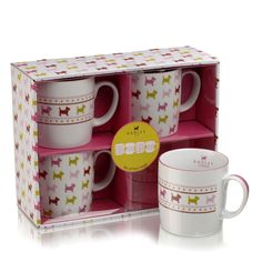 My kitchen needs these!  Radley 'Euston' X4 Mug Set £29  http://www.radley.co.uk/euston-x4-mug-set#  Free Standard UK Delivery on orders over 25 GBP. Free UK returns.