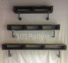 DIY Wooden Pallet Pipe Shelf