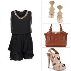 Combine o vestido preto com acessórios cheios de detalhes! http://tempodemoda.climatempo.com.br/Porto_Alegre