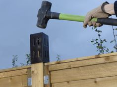 Using post extenders to add trellis to a fence. How to fit the extenders to create an ideal structure for supporting plants and creating greater privacy. Trellis Fence, Lattice Fence, Garden Trellis, Trellis Ideas, Garden Edging, Privacy Fence Designs, Privacy Fences, Fencing, Fence Gates