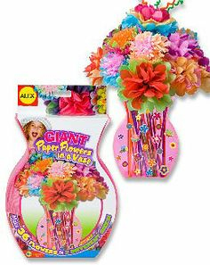 Alex giant tissue paper flowers in a vase craft kit by for Alex toys craft color a house children s kit