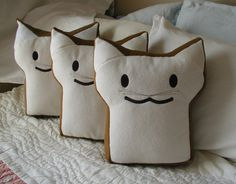 BreadCat by the Slice by CrashCanStudio on Etsy, $22.00