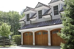 Exceptional three car garage at a charming country home. 3 Car Garage, Garage Plans, Private Club, Garage Design, Pool Houses, Garages, Home Renovation, Curb Appeal, Custom Homes