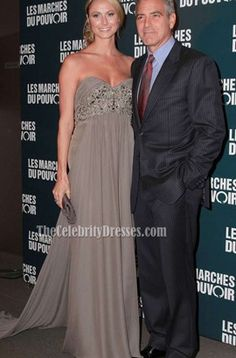 Stacy Keibler Strapless Evening Gown Formal Dress Red Carpet