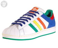 Adidas Superstar Ii Cb Mens Shoes White/multi-color Size 8.5 (*Amazon Partner-Link)