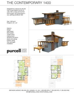 Purcell Timber Frames - Full Home Packages and Prefabricated Houses - The Rise 1400 Prefabricated Houses, Prefab Homes, Timber Frame Homes, Timber Frames, Custom Home Designs, Custom Homes, Cottage Design, House Design, Design Design