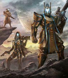 Destiny Titan Concept C with Friends! by cgfelker