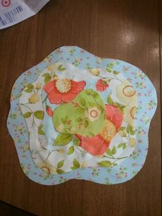 French roses quilt block