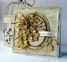 Autumn leaves card by Dorota_mk