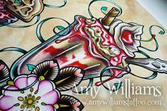 Gelato Sundae Tattoo Art A4 stampa di amybird su Etsy