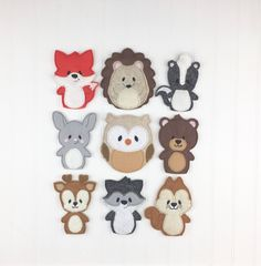 Ready for a day of forest fun? These sweet little finger puppets are ready for play! Great for the car, quiet time, church, doctor appointments, or just when momma needs a few minutes of peace :)  This ready to ship book features 9 little cuties: skunk, fox, chipmunk, bunny, raccoon, owl, deer, bear, and hedgehog!  You can also pick and choose which ones youd like from the 9. Just let me know in the notes to seller at checkout.