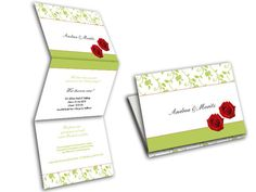 Hochzeitseinladungskarten - Rote Rosen