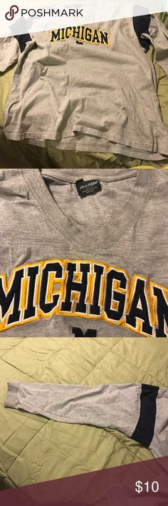 ProEdge Michigan Wolverines Shirt Michigan Wolverines long sleeve shirt. Size 2X ProEdge Tops Tees - Long Sleeve