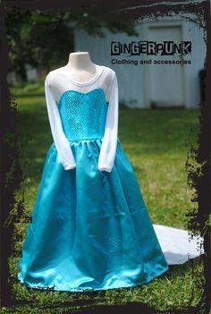 Look at this adorable dress inspired by Princess Elsa!