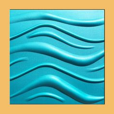 "20""x20"" Wave Turquoise Tile HD Foam Ceiling Tiles, Antique Ceilings- glue up ceiling tiles and drop in grid ceiling tiles- Antique Ceilings-"