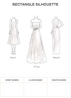 Wedding Dress Style - Rectangle style wedding dresses from David's Bridal