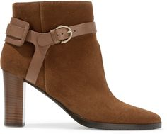 Jimmy Choo Hose leather-trimmed suede ankle boots