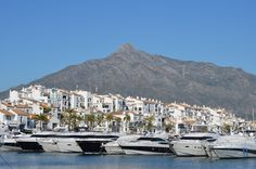 Good morning & happy Friday dear friends!😊 Puerto Banús, is a marina located in the area of Nueva Andalucía, to the southwest of Marbella, Spain on the Costa del Sol. It has become one of the largest entertainment centres in the Costa del Sol, with 5 million annual visitors, and is popular with international celebrities. Puerto Banús contains expensive shopping malls, restaurants and bars around the marina. Luxury cars and sports cars are a common sight in Puero Banus.