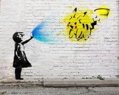 Banksy inspired Pokémon GO Girl (digital) : gaming