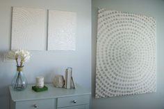 monochromes selbst gemachtes Bild als simple Wanddeko