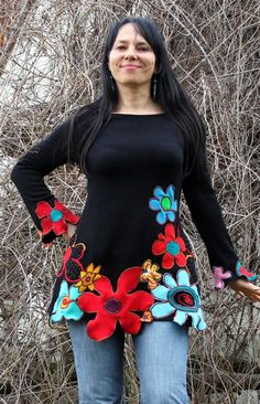 RESERVED for Ana Cantero Floral  gypsy summer by jamfashion, $72.00 Could use my old cashmere sweaters for this one!