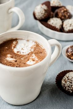 Everyone Needs a little Chocolatey Treat! Mexican Hot Chocolate with Coconut Whipped Cream - Dishing Up the Dirt