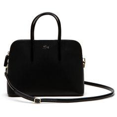 Lacoste Women's Small Chantaco Bugatti Handbag (1,690 CNY) ❤ liked on Polyvore featuring bags, handbags, shoulder bags, bags bags, leather goods, leather handbag purse, shoulder handbags, handbags purses, purse shoulder bag and leather hand bags