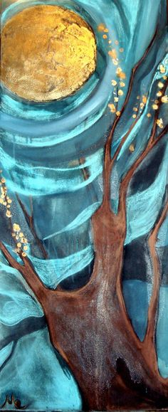 "Saatchi Art Artist Mo Kelly; Painting, ""Golden Apples Of The Sun (Sold)"" #art"