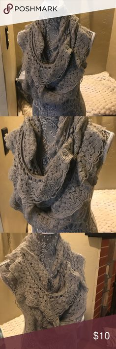 Infinity scarf Ruffled infinity scarf with crochet detail Accessories Scarves & Wraps