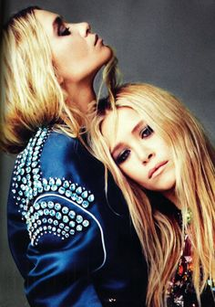 Ashley Olsen and Mary-Kate Olsen photographed by Alexei Hay for Elle UK, 2012