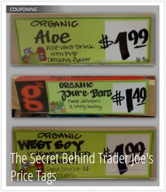 Decipher Trader's Joe's Price Tags for Easier Shopping