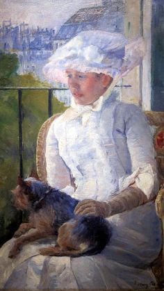 Mary Cassatt, Young Girl at a Window (c. 1883–1884), National Gallery of Art