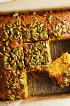 NYT Cooking: Sweetened with brown sugar and maple syrup, this cornbread is hardl… – Food And Drink Fall Recipes, Holiday Recipes, Pumpkin Recipes, Dinner Recipes, Maple Cornbread Recipe, Thanksgiving Sides, Thanksgiving Desserts, Christmas Desserts, Cooking Bread