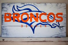 Broncos Pallet Sign by LittleBurlapBow on Etsy