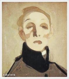 Helene Sofia Schjerfbeck (Finnish, 1862 - 1946). Self Portrait - «Впечатления дороже знаний...»