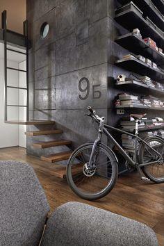 [Interior] Loft industrial vintage en un ático de estructura sorprendente – Virlova Style
