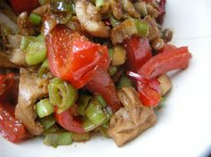 Chicken with Red Bell Pepper