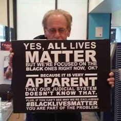 #BlackLivesMatter... LET THIS SINK IN PEOPLE !!  Make racial equality an issue of the past by making everyone equal! Go to http://www.fuzeus.com