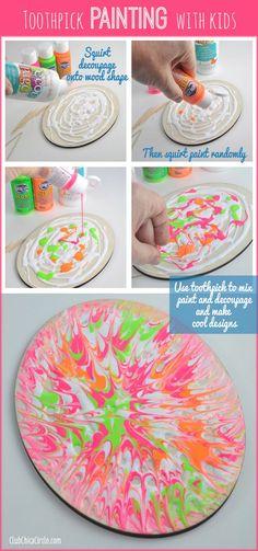 Fun idea - toothpick art create unique designs