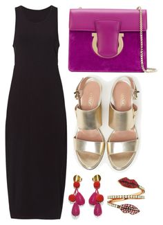 """LBD"" by cherieaustin ❤ liked on Polyvore featuring Alala, Salvatore Ferragamo, Max&Co., Tom Ford and Delfina Delettrez"