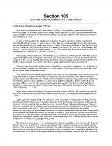LDS Gospel Doctrine Handout: Section 105 Scripture Reading Chart, Scripture Study, Lds Church, Church Ideas, Lds Scriptures, Doctrine And Covenants, Reading Charts, Study Journal, Personal Progress