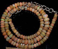 "61 Crts 1 Strands 4 to 7mm 15"" Beads Ethiopian Welo Opal  AA+++42962"