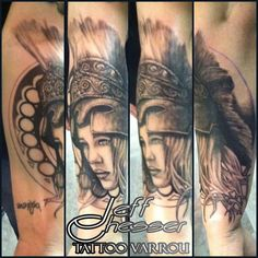 Goddess Athena Portrait Tattoo