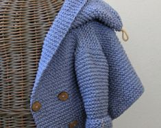 Hand gebreide Handmade Baby wollen trui vacht Cardigan Hand