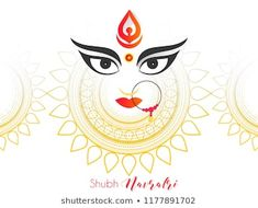 Innovative abstract or poster for Shubh Navratri with nice and creative Maa Durga design illustration, Shubh Navratri, Durga Puja. Mandala Art Lesson, Mandala Drawing, Durga Puja, Happy Navratri Wishes, Navratri Festival, Flower Applique, Rangoli Designs, Royalty Free Photos, Art Lessons
