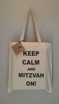 Keep Calm and Mitzvah On  jewish Tote Bag Bar Mitzvah Bat Mitzvah on Etsy, $15.00 favor