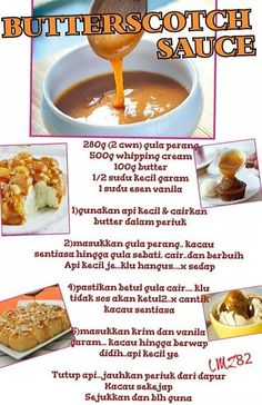 Butterscoth caremel Credit to : LAILATUL MUNIRAH Pastry Recipes, Sauce Recipes, Bread Recipes, Cookie Recipes, Cappuccinos, Savoury Cake, Homemade Spices, Brownie Cookies, Cake Cookies