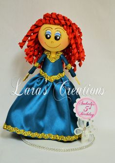 Fofucha Merida, Foam Doll, Merida party. Princess Merida Centerpiece.
